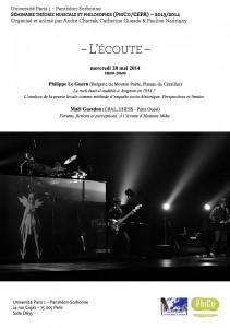 Séminaire «Théorie musicale et philosophie : l'écoute » le 28 mai 2014