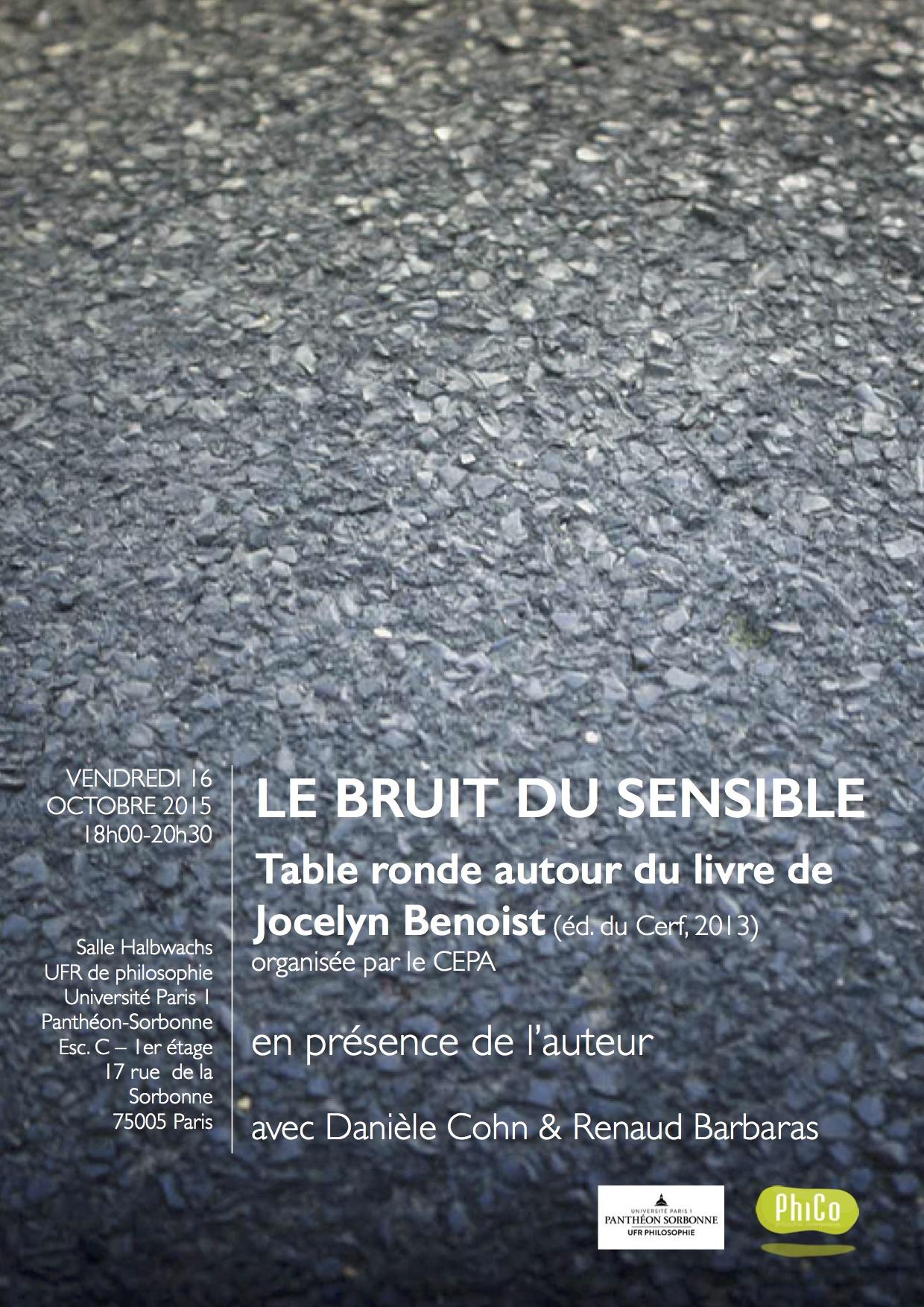 Affiche Le Bruit du sensible